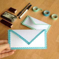 DIY Envelope with Washi Tape