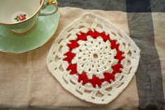 Ravelry: Pot Holder with Hearts pattern by Emma Wilkinson