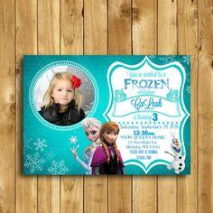 Frozen Birthday Invitation Frozen Fever by VeronicaVaselinArts