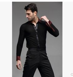 d6d20015d Clothing Suppliers Men Latin Shirt Adult Latin Dance Tops Clothing For Dance  Man Long Sleeve Dance Dress Waltz/Tanto/Rumba Dancewear Ballroom Dance Sc 1  St ...