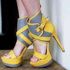 High Quality Contrast Color Platform Sandals