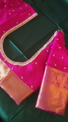 Cutwork Blouse Designs, Wedding Saree Blouse Designs, Simple Blouse Designs, Stylish Blouse Design, Blouse Patterns, Pink Blouse Design, Traditional Blouse Designs, Lehenga, Maggam Work Designs
