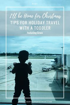 #ad Traveling with a toddler this holiday season? I shared tips from experience on how to make your trip a little easier with the help of Graco. Read more on the blog! #Graco, #GracoHoliday, #gracobaby