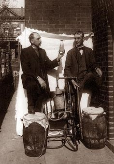 This picture is from the 1920's, and shows a couple of guys by an old Bootleg Still, during the days of prohibition. Prohibition came to an end on March 22, in the year 1933. Roosevelt signed a law making it legal to make and sell beer and wine. Bootlegging continued even after prohibition ended. Even though it was legal to make, sell, and consume alcohol, a heavy tax was levied on it. Bootleg whiskey was untaxed, so it remained popular for a long time.