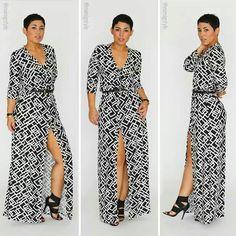 Mimi G DIY Maxi dress.... Love the pattern