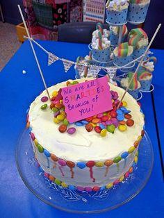 teacher appreciation rainbow cake