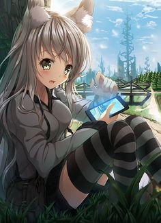 Anime Neko Girl  #anime ////////// http://blog.vectorlibre.com/