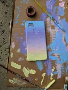 phone case cases paint painted painting iphone simple paintings ombre aesthetic acrilic draw phonecase covers uploaded cell pinlab3s guardado gloryamorgans