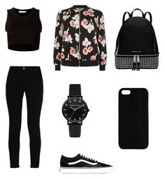 """first day of school outfit"" by simplyrosa on Polyvore featuring Julien David, STELLA McCARTNEY, Vans, New Look, Maison Takuya and Michael Kors"