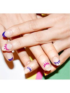 Nail Art - Winking eyes - 28 Instagram Nail-Art Ideas That Will Make You Smile | allure.com