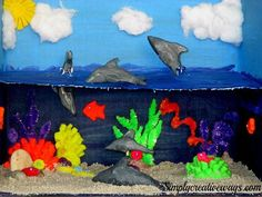 Dolphin-Diorama Archives - Simply Creative Ways Ocean Projects, Animal Projects, Science Projects, School Projects, Projects For Kids, Fair Projects, Kids Crafts, Dolphin Habitat, Ocean Habitat