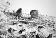 #drawing #ballpointpenart #pen #landscape #corsica #bonifacio #sea #cliff #stylobille #Dessin #mer #falaise #paysage Ballpoint Pen Drawing, Mount Rushmore, Image Search, Mountains, Drawings, Landscapes, Travel, Painting, Cliff
