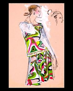 Academy of arts Brian stone house MBE Pucci 1970s  Original fashion illustration for U... | Use Instagram online! Websta is the Best Instagram Web Viewer!
