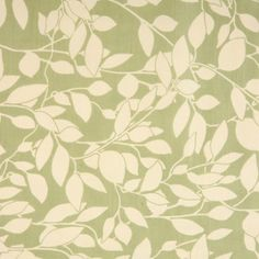 Leaf Trail Green oilcloth tablecloth