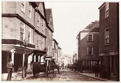 'Totnes, Devon. 'Old Houses in High Street' c. 1880 by National Media Museum, via Flickr
