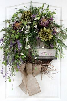 Country Wreath Front Door Wreath Everyday by FloralsFromHome, $162.00