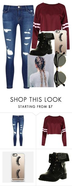 """Can't wait for winter"" by lauren-harsen on Polyvore featuring J Brand, Casetify, Refresh and Ray-Ban"