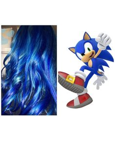My daughter is zooming  on Sonic the Hedgehog so she died her hair to match.