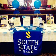 Our branch in Clayton, GA decorated for Financial Literacy Month.