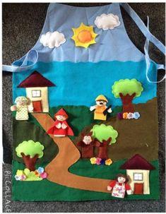 Tecido | Artesanato - Cultura Mix Felt Crafts, Diy And Crafts, Crafts For Kids, Wolf Craft, Silent Book, Quiet Book Templates, Felt Stories, Felt Books, Kindergarten Learning