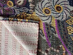 Handmade Kantha QuiltCotton Quilt by IndianHomeTextile on Etsy