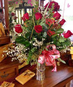 Simple Valentine Day Flower Arrangements Arrangement By Botanical Designs Florist Baytown Tx