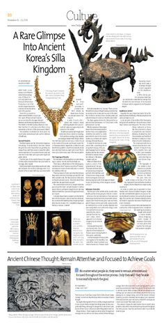 A Rare Glimpse Into Ancient Korea's Silla Kingdom --- Epoch Times, Singapore Edition (Issue 478, 15 Nov 2013) --- To read the text, click - http://epoch-archive.com/a1/en/sg/nnn/2013/11%20November%202013/Edition%20478_15_November%202013/478_B08.pdf