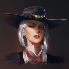 ArtStation - Ashe, 团 団團 Overwatch Females, Overwatch Drawings, Overwatch Fan Art, Girls Characters, Female Characters, Game Character Design, Character Art, Overwatch Wallpapers, Digital Art Girl