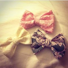 Vintage lace hair bow  on Etsy, $13.25