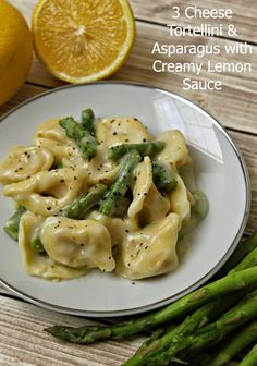 Tortellini with Asparagus in a Light Creamy Lemon Sauce