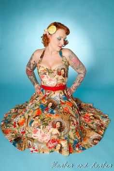 Vintage Inspired Las Senoritas Prom Dress by boobookittycouture Stunning Dresses, Nice Dresses, Prom Dresses, Summer Dresses, Vintage Inspired Dresses, Vintage Style Outfits, Pin Up Outfits, Cool Outfits, Big Fashion