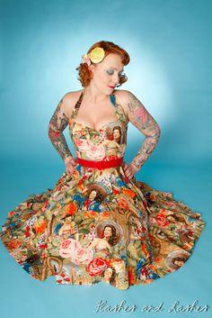 Vintage Inspired Las Senoritas Prom Dress by boobookittycouture