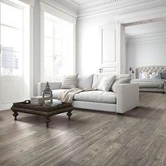 Silvermist Oak natural authentic laminate floor. Grey color, oak wood finish, 12mm 1-strip plank laminate flooring, easy to install, PERGO lifetime warranty.