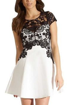 White Round Neck Lace Crochet Stylish A Line Dress @ Casual Dresses,Women Casual Dresses,Cheap Casual Dresses,Cute Casual Dresses,Casual Dresses for Juniors,Womens Casual Dresses,Casual Summer Dresses,Casual Maxi Dresses,Long Casual Dresses,Short Casual D #lace dress