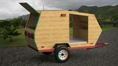 Valuable Idea How To Build Your Own Trailer 10 Teardrops N Tiny Travel Trailers View Topic On Home Diy Camper Trailer, Tiny Camper, Trailer Build, Small Campers, Diy Camping, Camping Hacks, Diy Wood Projects, Woodworking Projects, Lightweight Camping Trailers