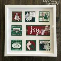 LollyPop Paper and Ink - Page 3 of 237 - Sharing the Art of Handcrafted Cards. Christmas 2019, Christmas And New Year, Christmas Ideas, Christmas Crafts, Christmas Decorations, Christmas Shadow Boxes, Hand Lettering Alphabet, Burlap Wreaths, Stampin Up Christmas