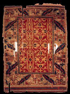 """""""Lotto"""" rug, Anatolia, late 17th century. Türk ve Islam Eserleri Müzesi, Istanbul"""