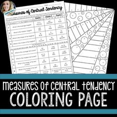This central tendency coloring worksheet gives your students a fun way ...
