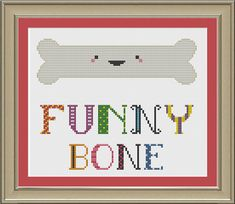 Funny bone: cute cross-stitch pattern by nerdylittlestitcher