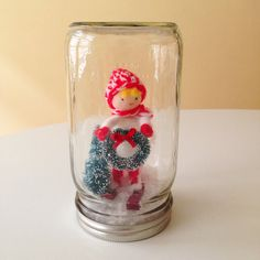 Skier Boy Mason Jar Christmas Decoration by AJarMpls on Etsy, $18.00
