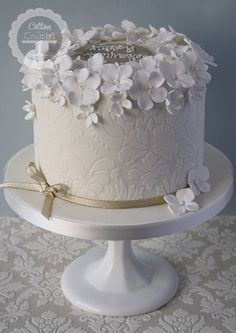Celebration Cakes | Love this as a triple tier!!