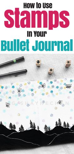 Want to use bullet journal stamps but don't know where to start? This helpful planner stamp tutorial will show you how to stamp, which stamps to buy, and why you need these amazing bullet journal supplies. Stamps are one of the must haves in your bullet journal. #bulletjournal #stamps #planner #journalideas #bujo #stationery #art #diy