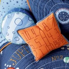 Fun pillow idea for my girl who loves visiting outer space in her cardboard rocket!