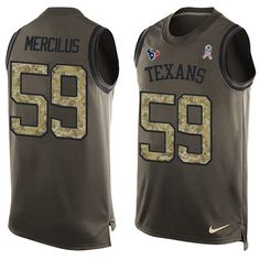 Nike Texans #59 Whitney Mercilus Green Men's Stitched NFL Limited Salute To…