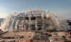 seattle king dome under destruction | King Dome Implosion, Courtesy of Seattle PI