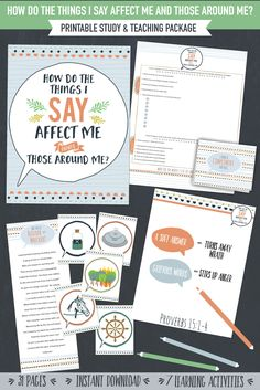 How do the things I say affect me and those around me?  This lesson package has 7 great learning activities, plus a printable for Personal Progress Individual Worth experience #3!