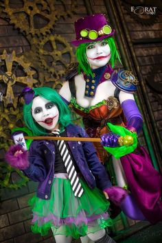 Cosplayer: Yugana Senshi Uon and daughter Photographer: Forat Shot Photography Character: Duela Dent, Joker's daughter and Joker (Rule 63) Contact Lenses : ColourVUE From: DC comics