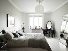 Refined Minimalist Apartment in Gothenburg, Sweden – Design. Scandinavian Interior Design, Scandinavian Home, Nordic Design, Minimalist Apartment, Bedroom Photos, Blog Deco, Apartment Design, Home And Living, Bedroom Decor