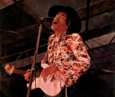 Jimi Hendrix performs on stage at Woburn Pop Festival Woburn Abbey UK August 1968