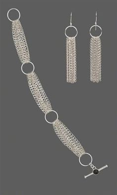 Jewelry Design - Bracelet and Earring Set with Sterling Silver Chain and Jumprings - Fire Mountain Gems and Beads #JewelryDesign